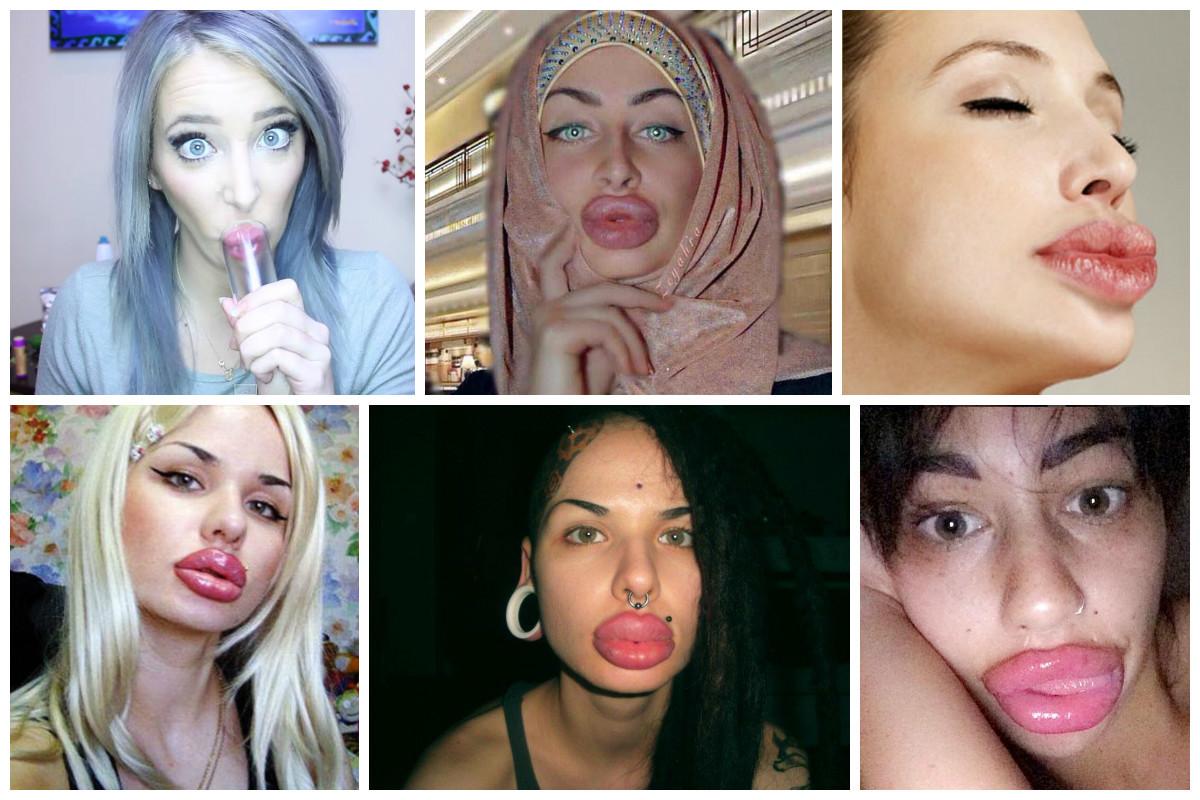 Действие минета на увеличенные губы
