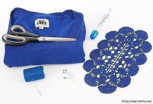 Вязаные крючком фрагменты в переделке и декорировании одежды Вязаные, крючком, фрагменты, переделке, декорировании, одежды, превратят, простецкую, дорогую, бутиковую