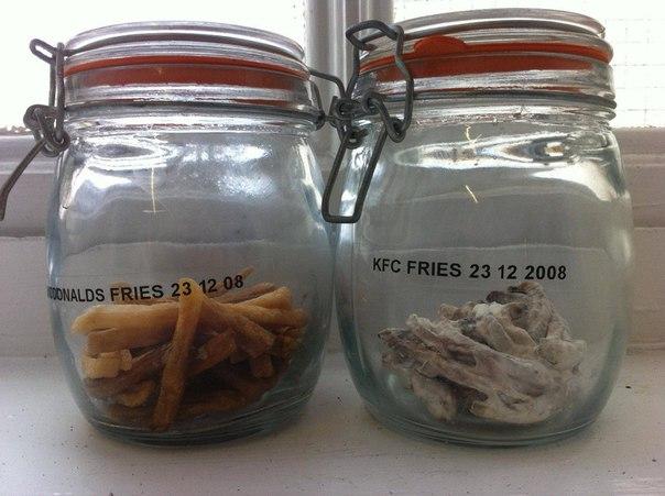 Картошка фри из McDonalds против картошки фри из KFC. Что с ними стало за 5,5 лет.