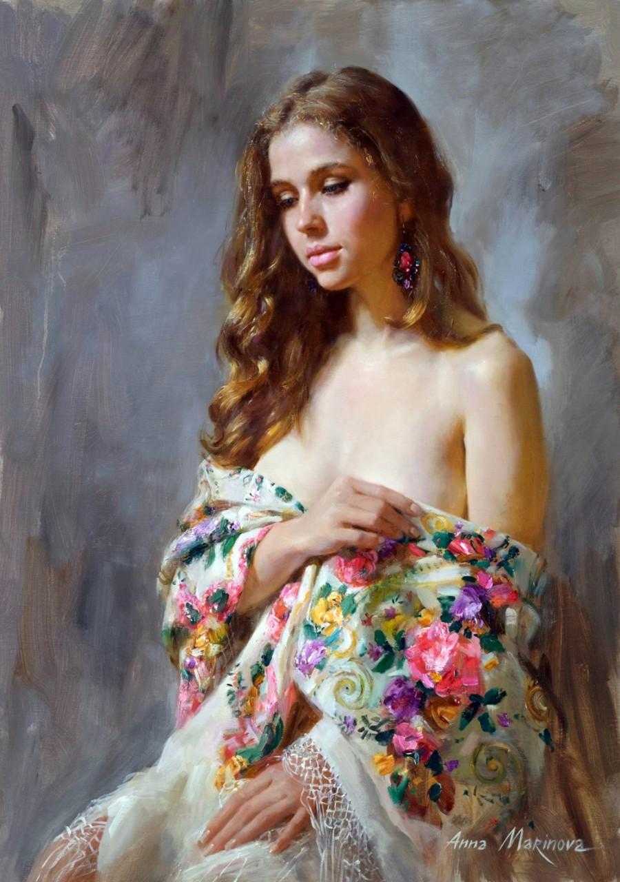 Ты соткана из света золотого... Художница Анна Маринова