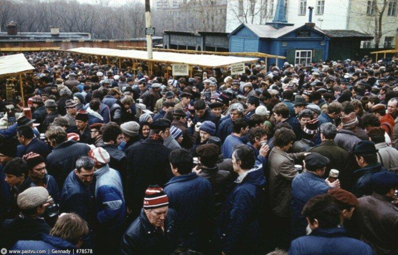 """Мода на шапки-""""петушки"""". Москва, 1985 история, ретро, фото"""