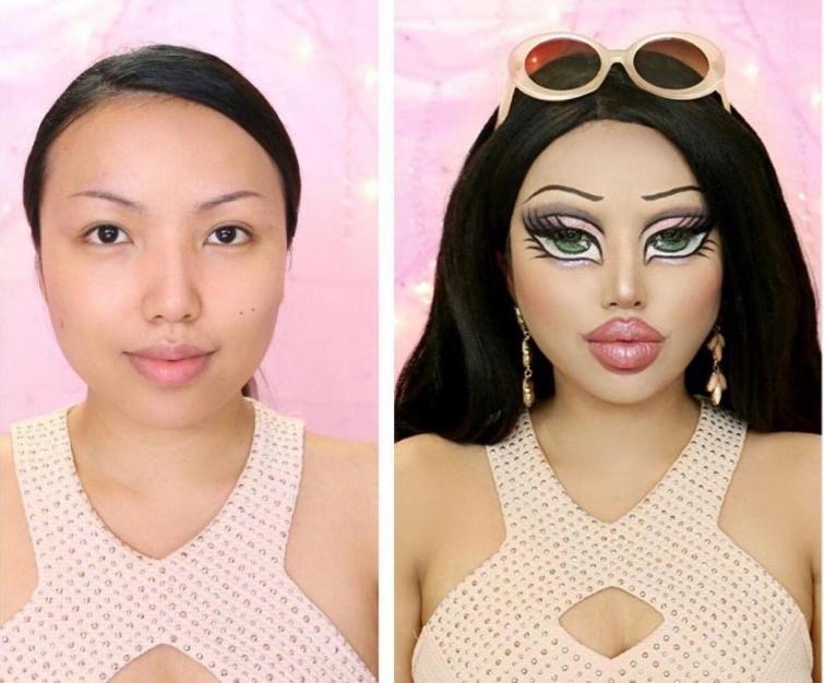 Девушка-хамелеон, которая при помощи макияжа может превратиться в кого угодно