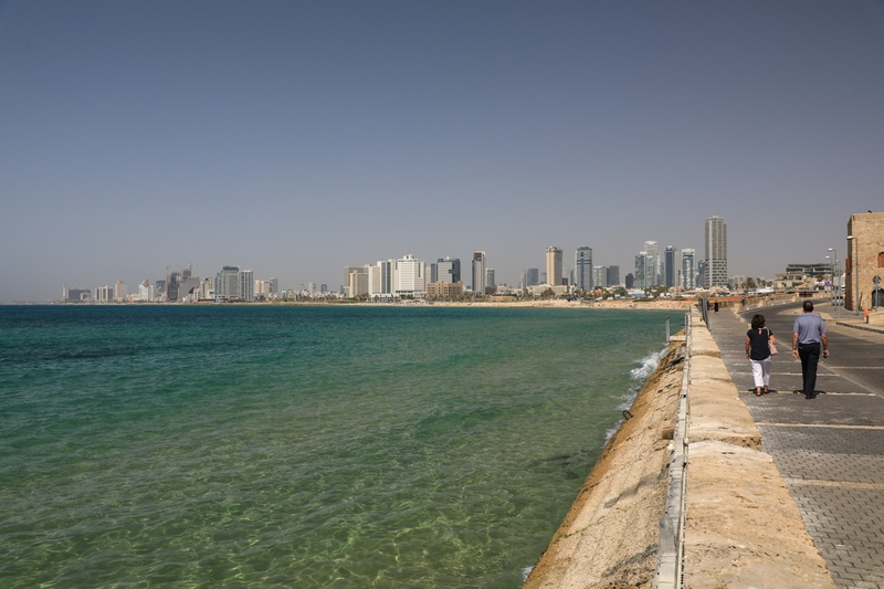 Пейзаж город Тель-Авив.