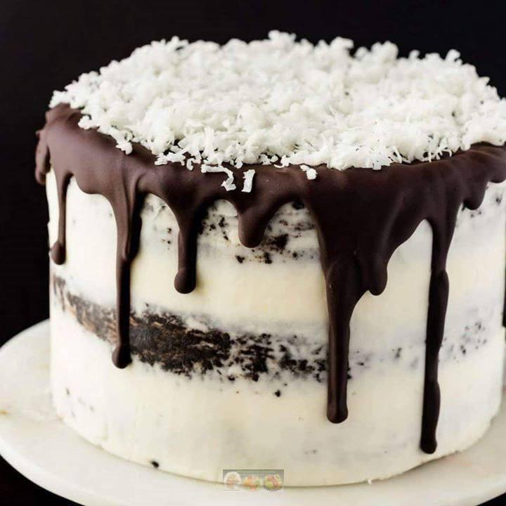Торт на кефире с творожным кремом за 15 минут