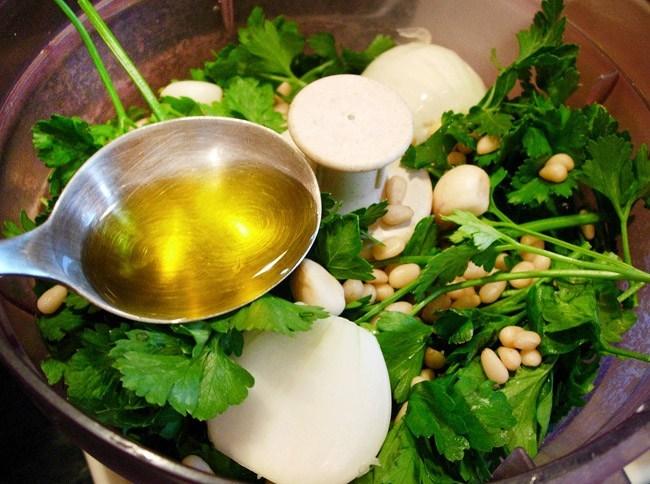 оливковое масло для спагетти с холодным соусом