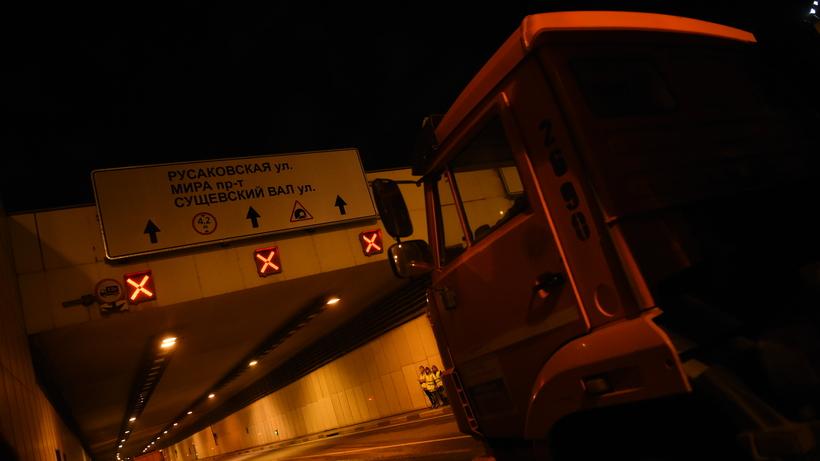 Подтопление произошло в Лефортовском тоннеле в Москве