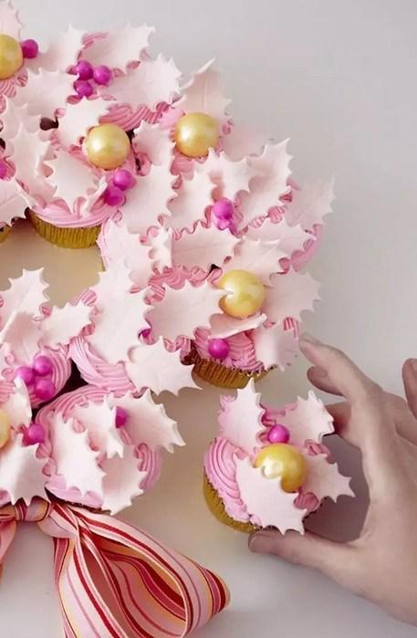 30 идей для новогодних капкейков — нежные кремовые кексики