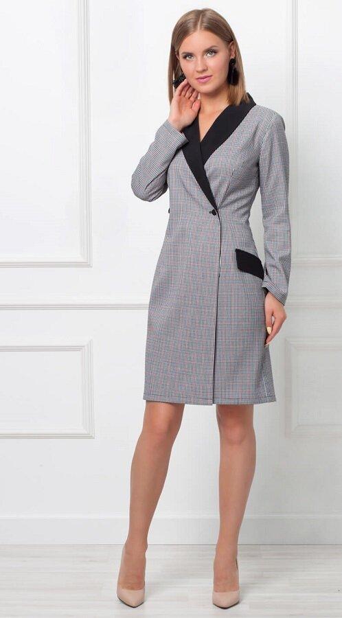 Платье-пиджак двубортное приталенное