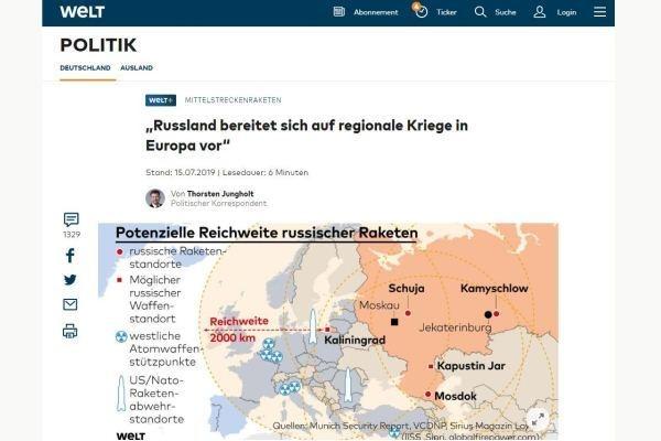 Немецкие СМИ сообщили о возможном неожиданном ударе России
