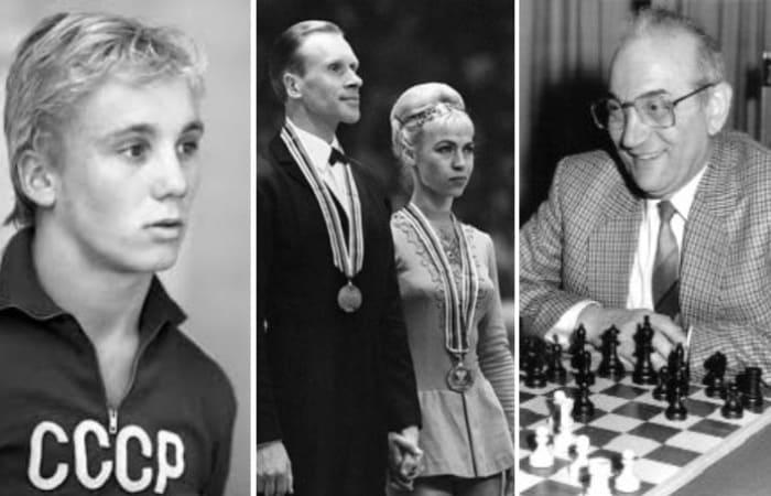 Советские спортсмены, совершившие побег из СССР   Фото: ridus.ru, yana.spox.ru и chess86.ru
