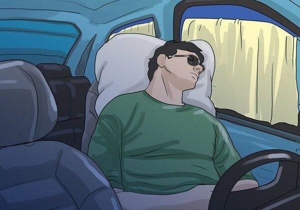 Хитрость дальнобойщиков, позволяющая не заснуть за рулём в дороге