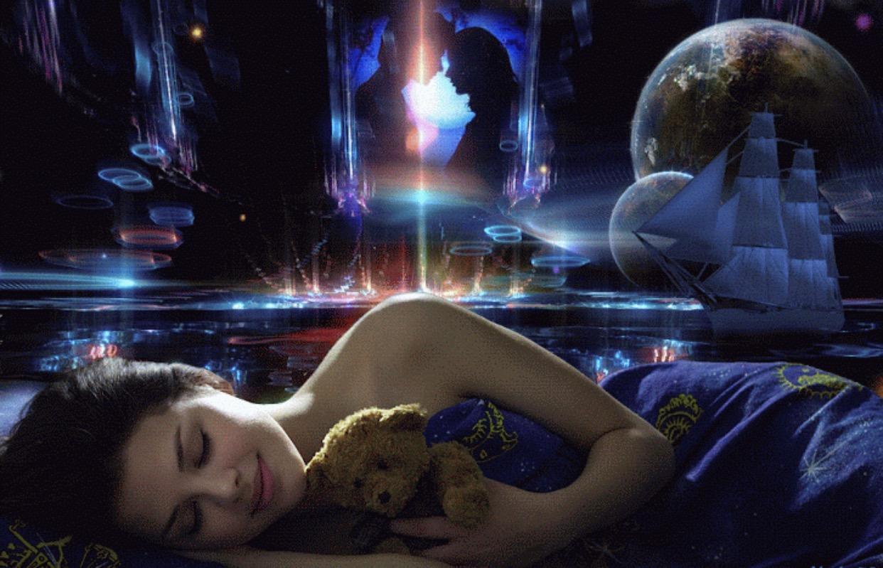 Картинки анимации сон девушки