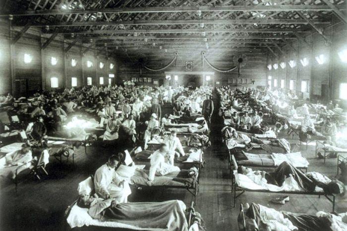 Пандемия испанского гриппа.