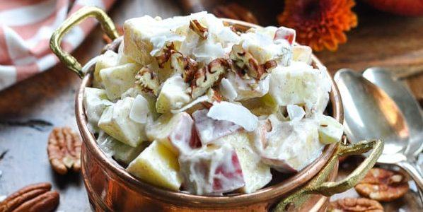 Фруктовый салат: пряный салат из яблок