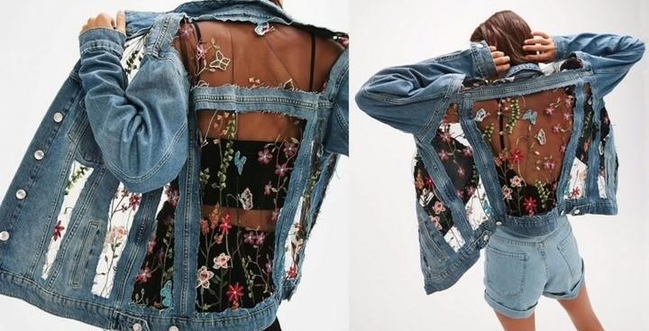 Ультрамодная джинсовая куртк…