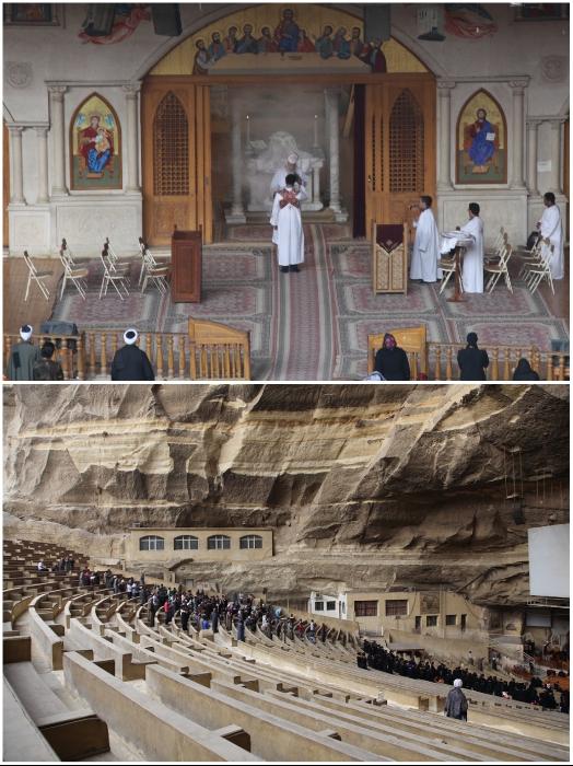 Пещерный храм Св. Симеона – христианская жемчужина Каира с занимательной историей достопримечательности,Каир,отдых и туизм