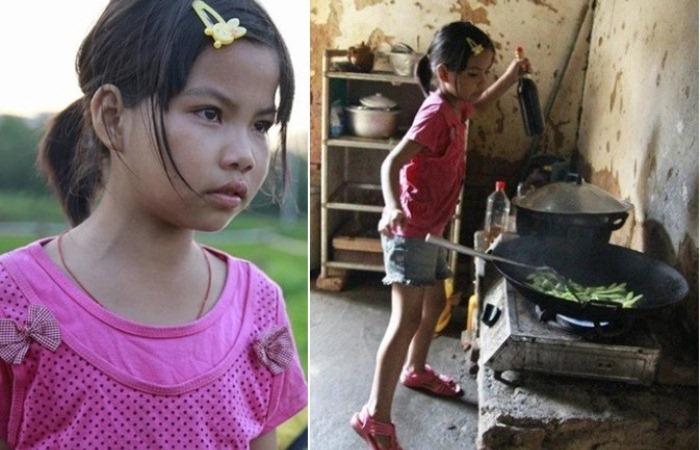 10-летняя девочка заменила братьям папу и маму
