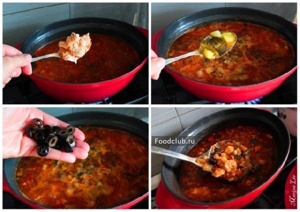 Рыбная солянка супы