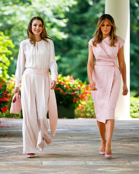 Мелания Трамп и королева Рания в одинаковых нарядах фото