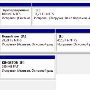 Произвести проверку в «Управлениями дисками».