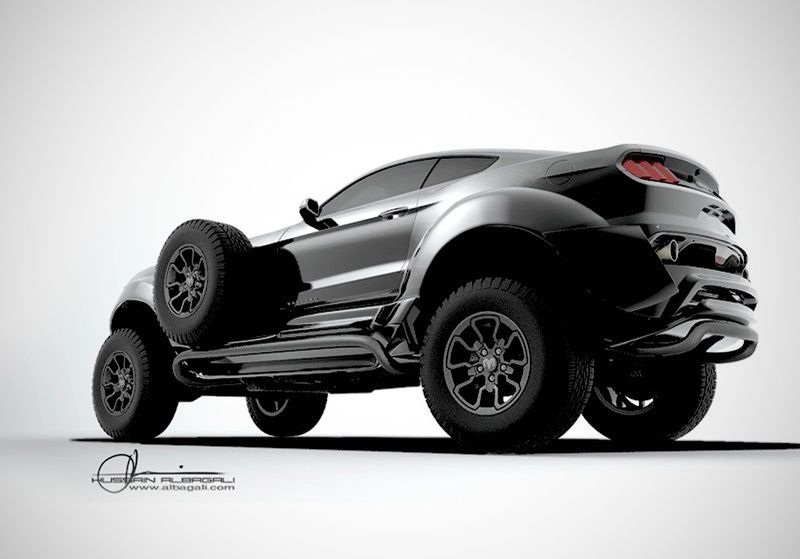Проект выполнил дизайнер Хуссейн Альбагали по заказу шейха Хамада бин Хамдана аль Нахьян. Постройка полноприводного автомобиля, выполненного в стилистике машин 1920-х годов, заняла семь месяцев. dodge, ford, mustang, автодизайн, автотюнинг, кастомайзинг, самоделка, тюнинг