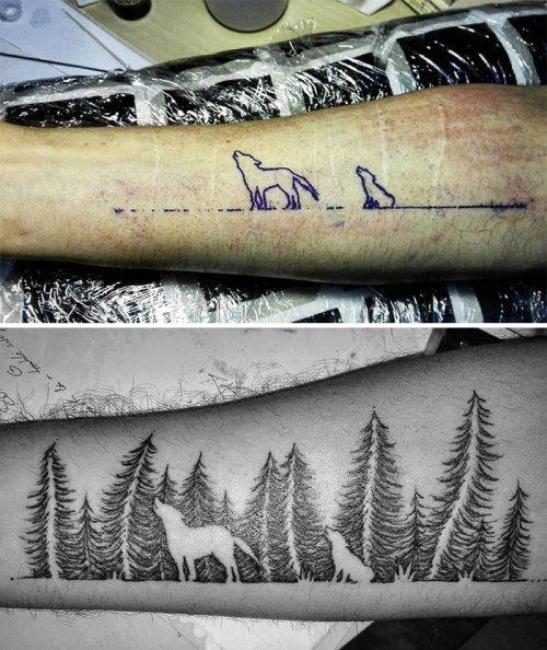 Креативные татуировки, с помощью которых эти люди умело обыграли несовершенства своей кожи