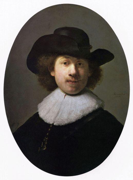 Автопортрет в широкополой шляпе, 1632 год. \ Фото: robertmorritt.com.