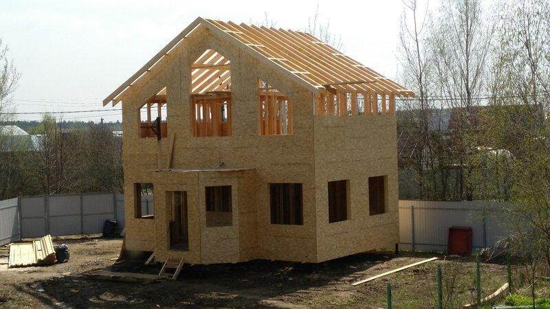 Строим дачный дом вдвоём с отцом! дачный дом
