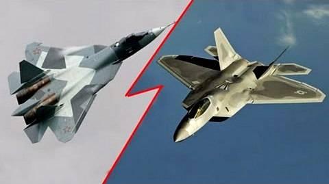 Су-57 против F-22: битва пятых поколений