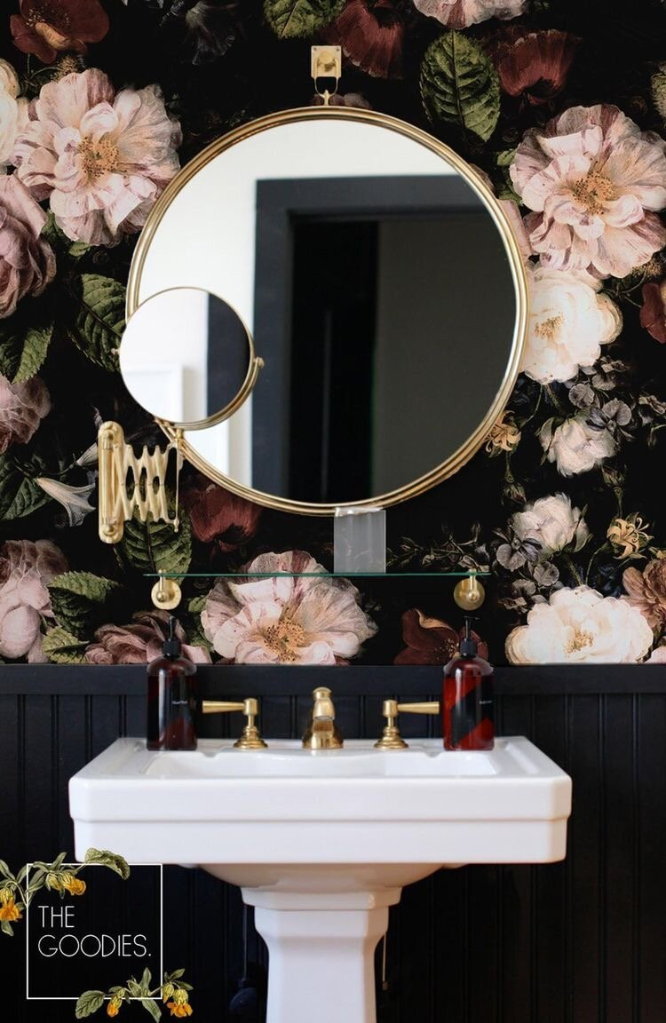 Необычные стены в ванной комнате, от которых рябит в глазах, но смотрится это красиво идеи для дома,интерьер и дизайн