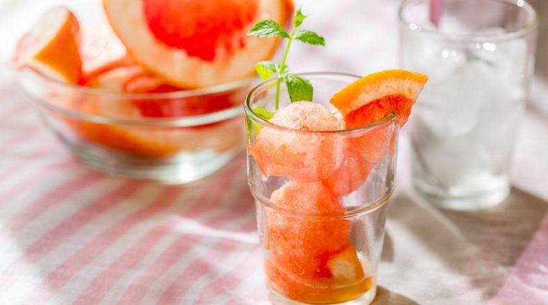 Сорбет из розовых грейпфрутов