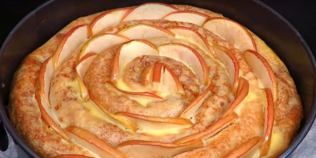 Рецепты: Блинный торт с творожно-яблочной начинкой