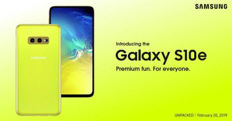 Samsung намекает на доступную цену смартфона Galaxy S10e