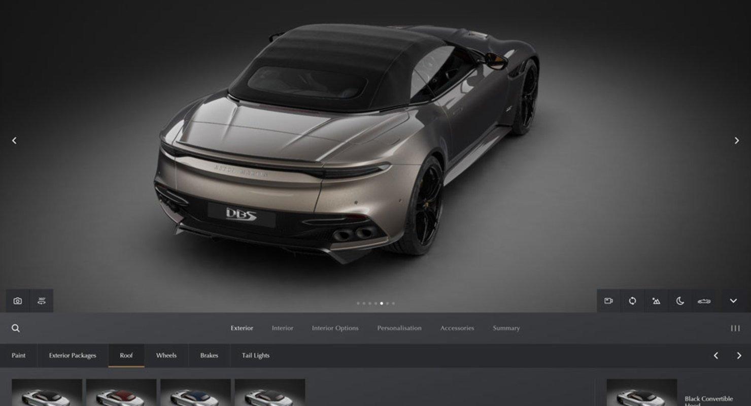 Aston Martin запустил новый веб-конфигуратор Автомобили