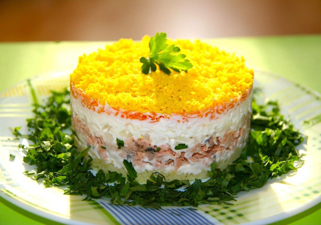 Рыбные салаты на праздничный стол рецепты с фото