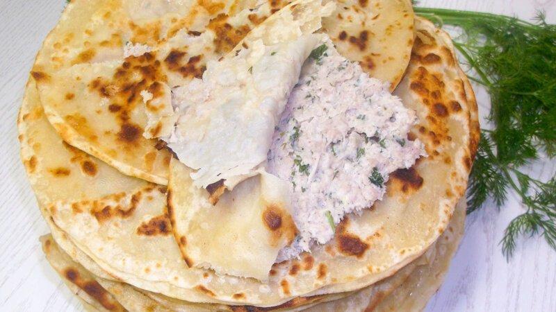 Вкусные лепешки с фаршем, по мотивам таджикского блюда Хомкима видео, еда, кулинария, простой рецепт