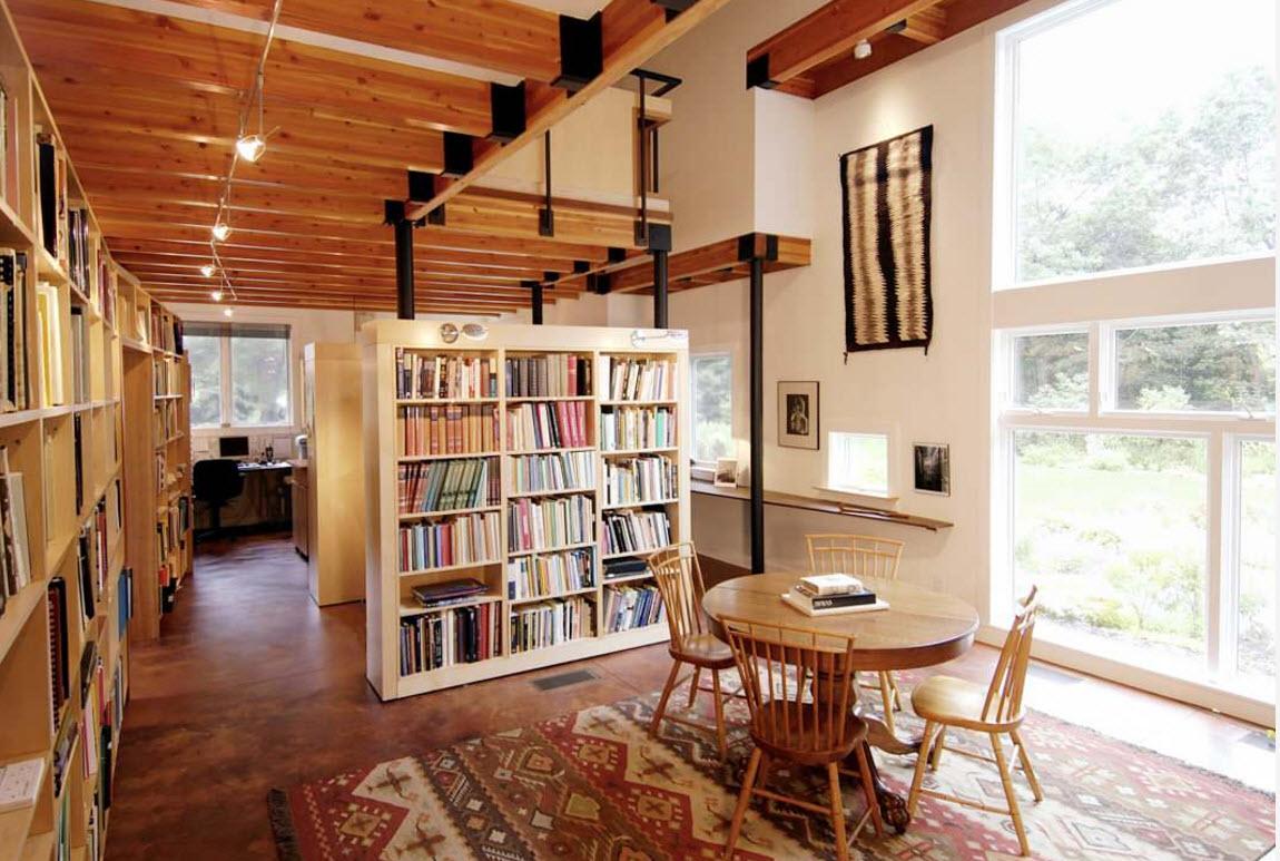 Книжный шкаф для зонирования