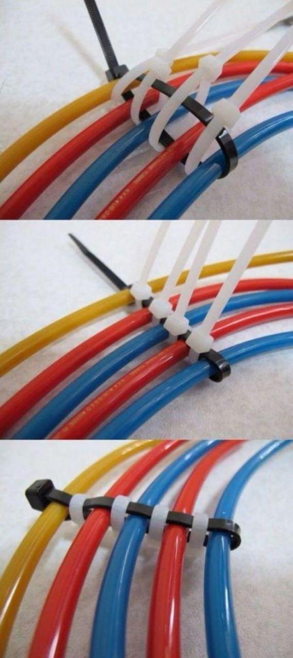 20 способов применения кабельных стяжек в быту