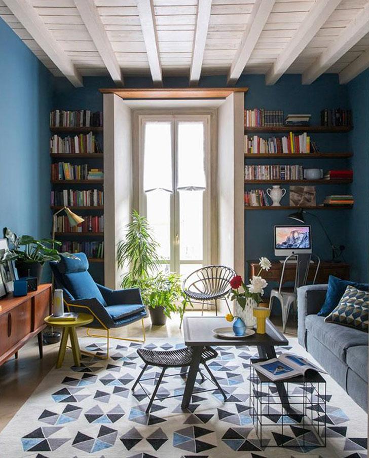 Яркая квартира в тихом центре Милана