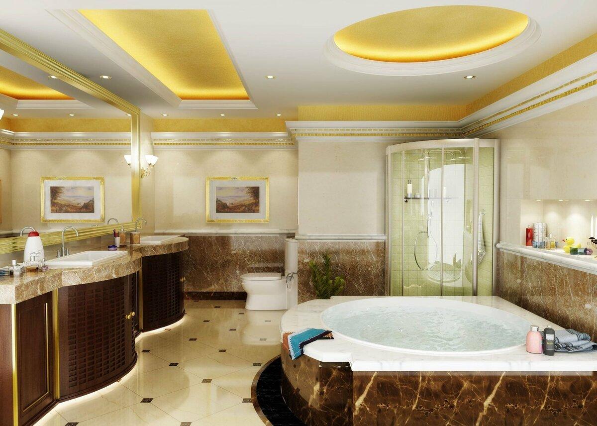 Потолки ванной комнате в картинках
