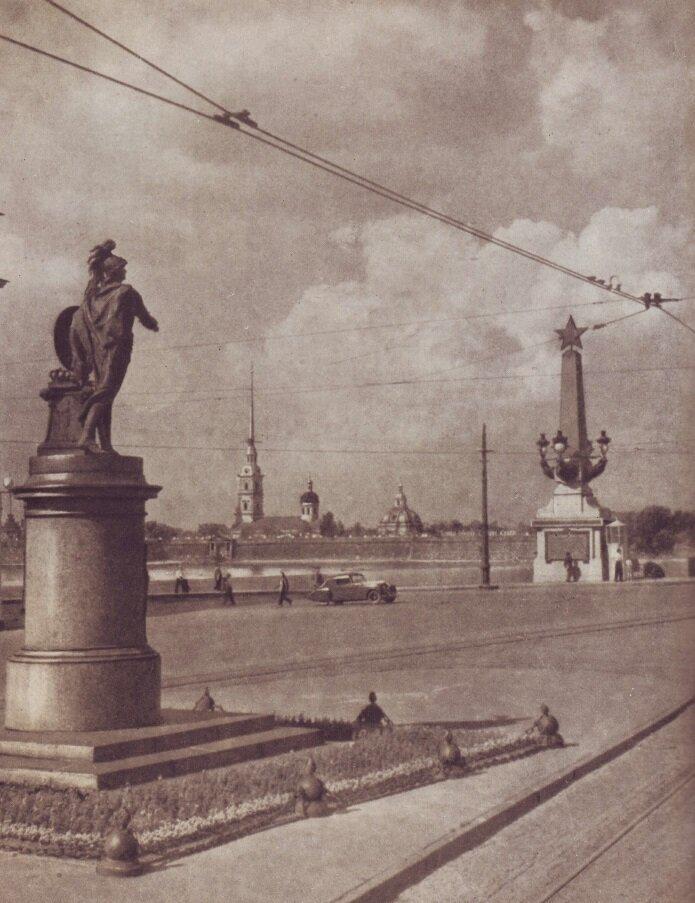 Памятник А.В. Суворову на Марсовом поле. 1955 год, СССР, история, ленинград, факты