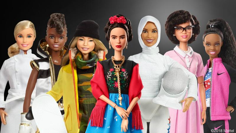 Barbie выпустила серию кукол по образу известных женщин к 8 марта
