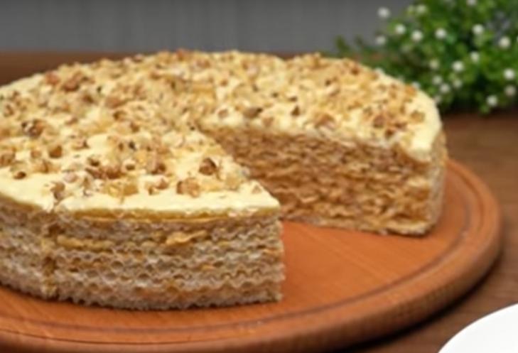 Вафельный торт - вкуснейший десерт