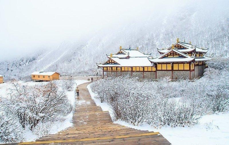 Зима на севере Китая виды, города, китай, красота, необыкновенно, пейзажи, удивительно, фото