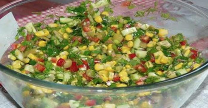 САЛАТНЫЙ ДЕНЬ. Постный салат быстрого приготовления «Радуга»