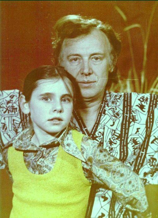 Иннокентий Смоктуновский с дочерью. / Фото: www.kpcdn.net