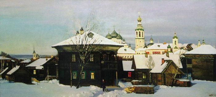 Вологда зелёная, Вологда старинная... Художник Валерий Страхов