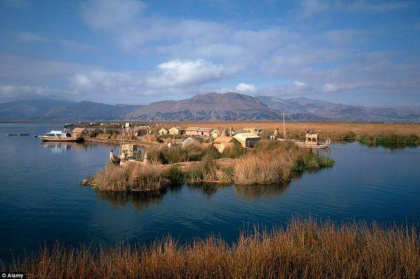14. Плавающие острова, Боливия и Перу. деревни, мир, невидимки, природа, фото