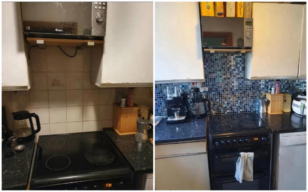 Женщина обновила свою кухню обычными наклейками, но люди раскритиковали ремонт домашний очаг,,ремонт,рукоделие,своими руками,умелые руки
