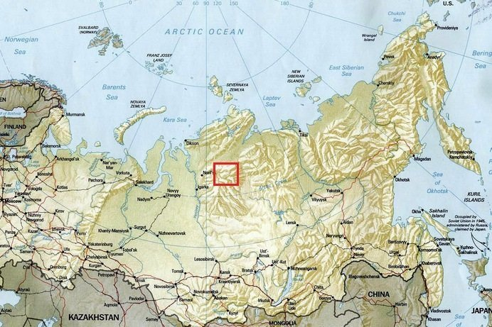 Плато Путорана: Пересечение с юга на север